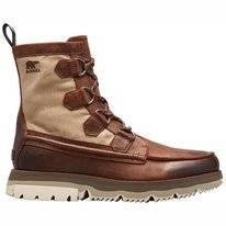 Sorel Men Atlis Caribou Waterproof Tobacco Dark